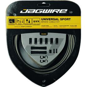 Jagwire Sport Universal Bremszugset für Shimano/SRAM carbon silber